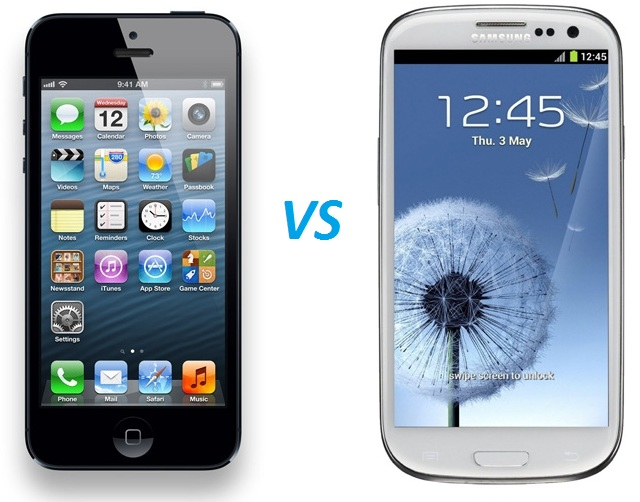 igalaxy Samsung Galaxy S3 versus Apple iPhone 5