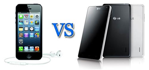 Apple-iPhone-5-VS-LG-Optimus-G LG Overtakes Apple in U.S. Handset Market Sales