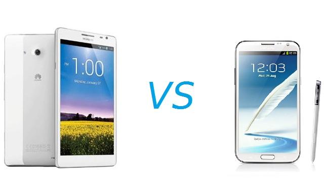 Samsung Galaxy Note 2 vs Huawei Ascend Mate