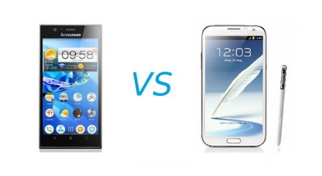 Samsung Galaxy Note 2 vs Lenovo IdeaPhone K900