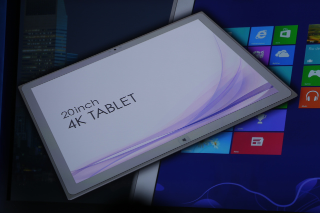 panasonic Panasonic Unveils 20-inch 4K Windows 8 Tablet at CES