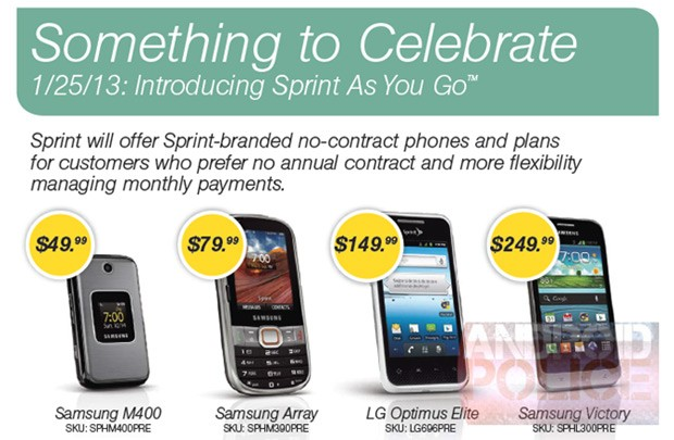 "sprint Sprint Introduces ""Sprint as you go"" Prepaid Service"