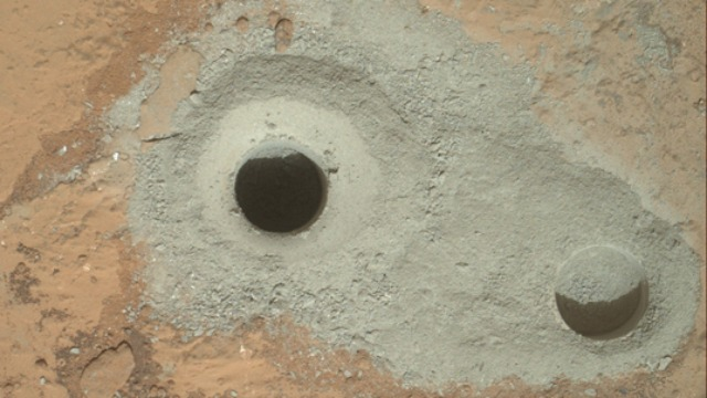 130211-mars First Ever Mars Bedrock Sample Collected by Curiosity Rover