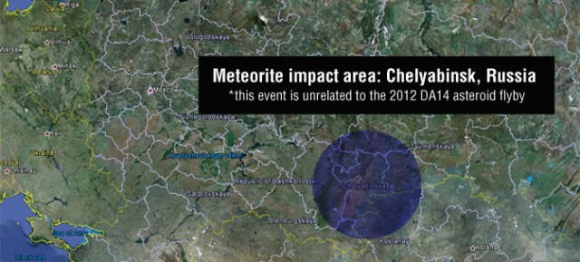 728155main1_meteor_map-673-640x289 NASA: Russian Meteor Was Largest In Over A Century At 10,000 Tons