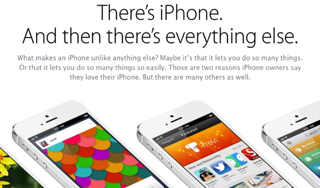 iphone-vs-s4 Apple Posts Lame Excuses Why the iPhone is Better than the Galaxy S4
