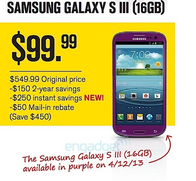sprint-purple-gsiii Purple Samsung Galaxy S3 For Sprint