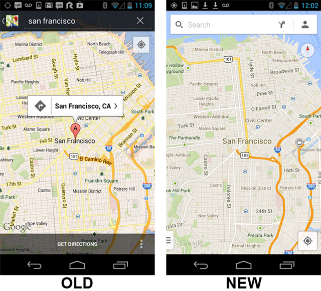 new-gogle-maps New Google Maps for Android (Video)