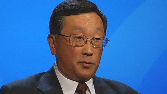 131104-johnchen BlackBerry: John Chen Named CEO, Fairfax Takeover Falls Through