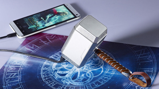 131115-thor  Thor's Mighty Mini Hammer Charges Your Smartphone (Video)