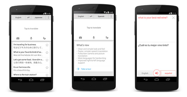 131121-gtranslate  Google Translate Android App Gets Cleaner, More Languages