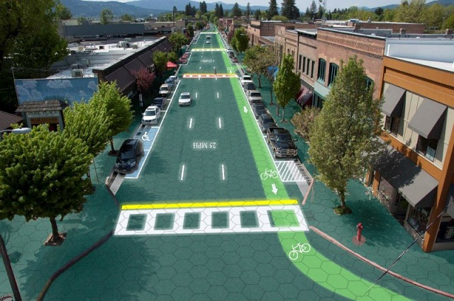 solar-road-1 Parking Lot Paved With Solar Panels (Video)