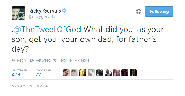 ricky-gervais-god Ricky Gervais Had A Hilarious Chat With God