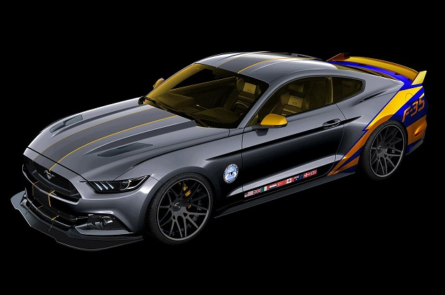 f-35-themed-ford-mustang F-35 Themed Ford Mustang One-Off Car To Be Showcased And Auctioned At EAA AirVenture