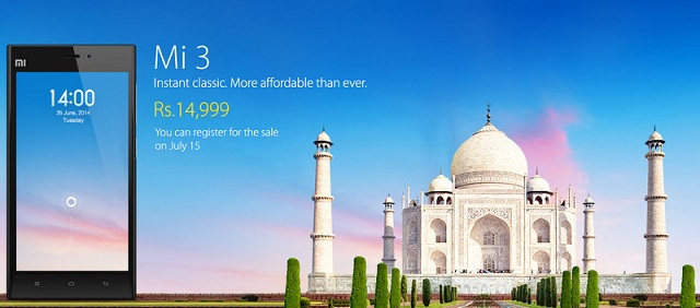 xiaomi-mi-3-india Xiaomi Mi 3 To Go On Sale Starting July 15 In India; Costs Just $250