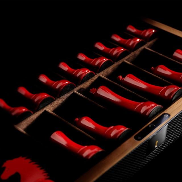 Ferrari-carbon-fiber-chess-set-3-640x640 Ferrari Carbon Fiber Handmade Chess Set Can Be Yours For $2,012